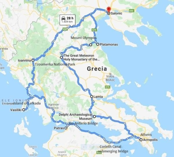 Greece-motorcycle-tour-map