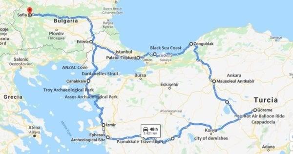 Turkey-Motorcycle-Tour-map