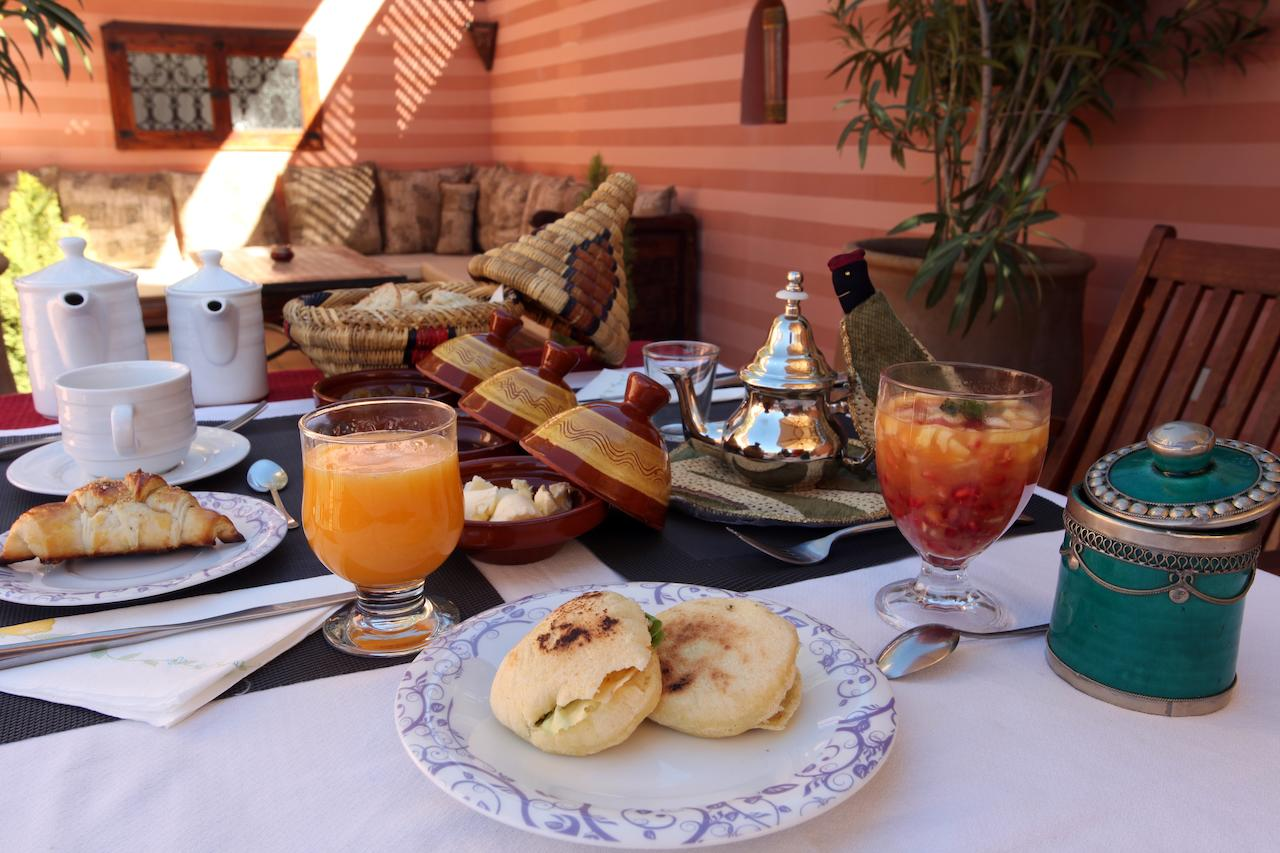 breakfast in Marrakech, Morocco