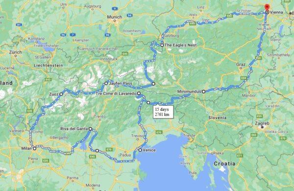 europe Motorcycle Tour Map
